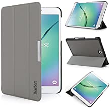 iHarbort® Samsung Galaxy Tab S2 8.0 Funda - ultra delgado ligero Funda de piel de cuerpo entero para Samsung Galaxy Tab S2 8.0 T710 , con la función del sueño / despierta, gris
