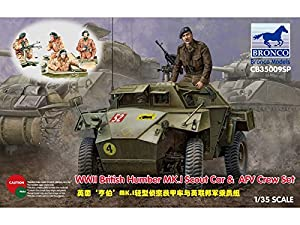 Unbekannt Bronco Models cb35009sp-Maqueta de WWII British Humber MK.I Scout Car y AFV Crew Set