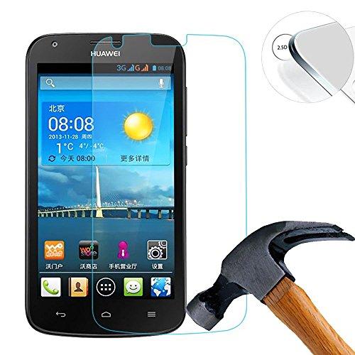 Lusee® 2 X Pack Panzerglasfolie Tempered Glass Hartglas Schutzfolie für Huawei Ascend Y600 Premium Screen Folie Protector Ultra Hart Bildschirmschutz 0,3mm 9H Clear 2.5D
