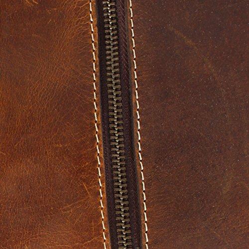 Rustic Town de primera calidad hecha a mano Bolso de cuero Bolsa de viaje de cuero Bolsa de cabina Vintage y estilo antiguo Para viajes y deportes Amplio y elegante Un regalo del artesano indio.