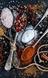 Notebook: Salt pepper spoons spices ingredients condiments capsicum black pepper white pepper