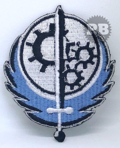 fallout kleidung Fallout 4Spiel, Bruderschaft der Stahl Logo Eisen nähen auf bestickt Patch