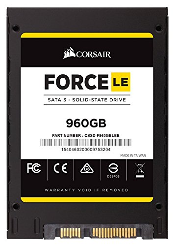 Corsair Force LE CSSD-F960GBLEB SSD da 960GB, Nero