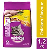 Whiskas Adult Dry Cat Food, Chicken flavour - 1.2 kg Pack