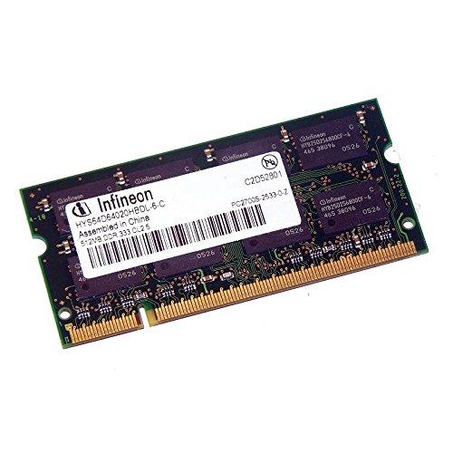 512MB Ram Laptop SODIMM Infineon hys64d64020hbdl-6-c DDR1PC-2700333MHz -