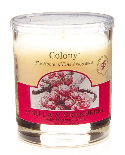 Colony Bougie en petit pot Parfum vanille et canneberge