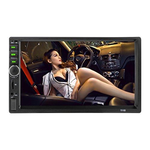 MiCarBa Bluetooth 7 pollici Car Stereo Touch Screen HD 2 lettori MP3 Din In-Dash MP5 Amplificatore audio video con vivavoce / radio FM / USB / SD / AUX / telecomando(CL7018B)