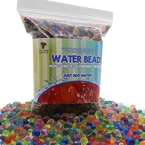TOAOB 60000pcs Wasserperlen Aqualinos Perlen Gelperlen Wachsende Kristallboden für Wasserballons Partei Sensorische und als Deko für Blumenvase