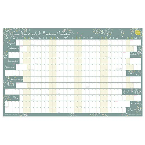 Formen Magazine Calendario 2020.Boxclever Press Academic Wall Planner 2019 2020 Linear Format Ideal Teacher Planner Weekly Planner For Home Office Or School Organisation Runs