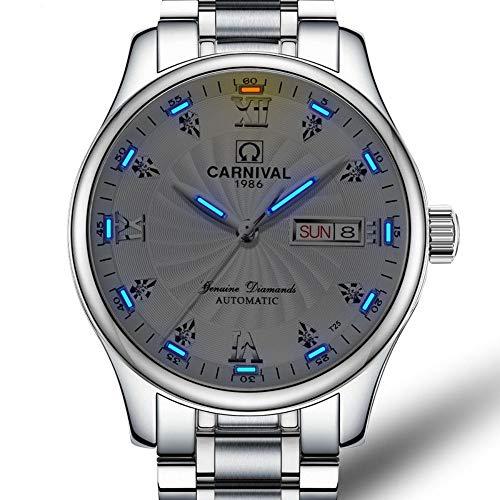 BINGABSFW T25 Tritium Uhr Männer Karneval Herren Top-Marke Luxus Automatische Mechanische Uhren Business Armbanduhr Uhr relogio Masculino, 4 -