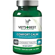 Vets Best Comfort Calm Stress Relief Dog Supplements - 60 Tablets