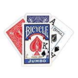 Bicycle Poker Size Jumbo Index Playing Cards Deck - Blue!