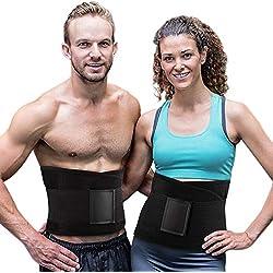 Tencoz Cintura Entrenador, Fajas Reductoras Adelgazantes Cinturón Abdominal Cinturón para el Sudor Mujer Cintura Entrenador Cintura Cinturón de Adjustable para Deporte Fitness (Black)