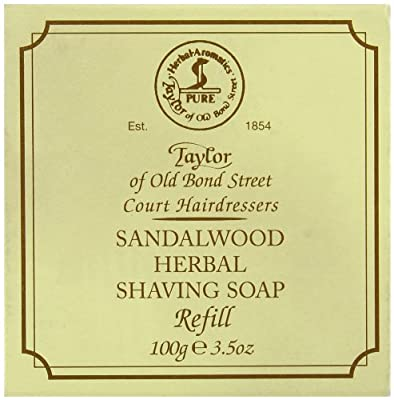 Taylor of Old Bond Street 100g Sandalwood Herbal Shaving Soap Refill from Taylor of Old Bond Street