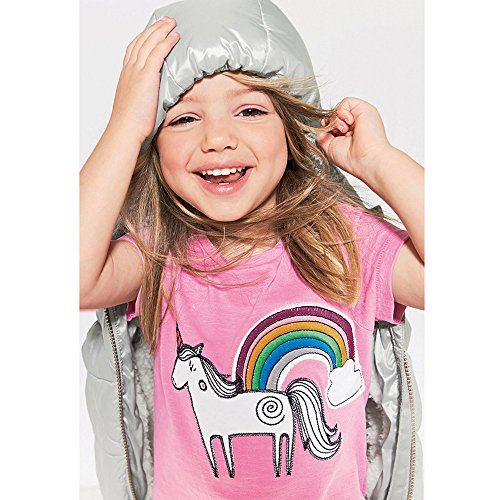 Cute Rainbow Unicorns T Shirt Girls Funny Children Birthday Tee Tops Clothing