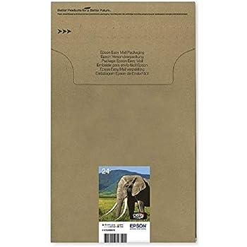 Epson 24 Serie Elefante Cartuccia Originale, Multipack, Standard, 6 Colori, FFP