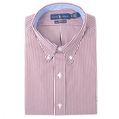Camicia righe slim fit in cotone