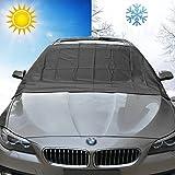 FEZZ Protector Parabrisas Coche Nieve Hielo Crema Magnético Solar UV Parasol 210*120cm para Coches SUV Camiones
