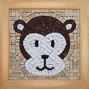 Trois petits points Mosaic Box Monkey Face-GEANT, 6192459602677, Universal