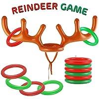 The Twiddlers Juego de Reno Inflable - Aros Extra, Set de Juegos en Familia, Fiestas de Navidad - Regalos Sorptesa.