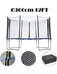 Filet de sécurité pour trampoline destiné au remplacement, Ø 244cm 6barres -- matériel PE, maille de haute densité -- Sans Trampoline et armature, filet de sécurité seulement