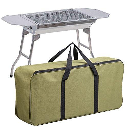 Gossipboy durevole impermeabile griglia per barbecue vettore di copertura organizer borsa per portatile a carbonella sedie griglia per barbecue a gas, 80x 35,1x 19,1cm verde militare
