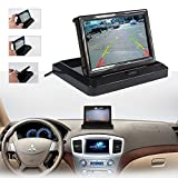 ROGUCI Dax 5Inch TFT LCD Car Monitor + Rear View Camera with Double Function High Definition Camera Rearview Mirror Monitor Car Rearview Mirror Monitor 16: 9