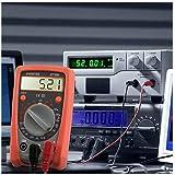 AIDBUCKS Multímetro Digital PM8233B Polimetro AC/DC Tester Electrico con Resistencia Tester Multi Tester con DMM voltímetro amperímetro ohmímetro con retroiluminación LCD