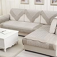 autunno/inverno morbido divano cuscini/ imbottita cuscino in tessuto anti-scivolo/Telo di copertura di stile europeo semplice e moderno salotto divano in legno massello-A 90x160cm(35x63inch)