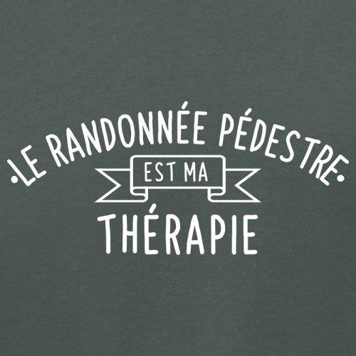 Le randonnée pédestre est ma thérapie - Femme T-Shirt - 14 couleur Gris Foncé