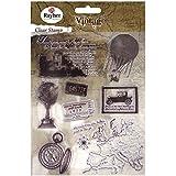 RAYHER 58175000, Clear Stamps, Vintage Zeitreise, circa 2-8 cm, SB-Btl