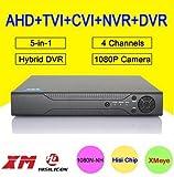 4 Channel Full HD Hybrid 5in1 1080N/TVI/CVI/1080P/AHD iDVR E-CH 7004X XVR NVR 2016