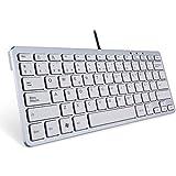 TopMate KM1101 Teclado con cable tamaño pequeño teclado delgado de escritorio o portátil para ordenadores portátiles PC Win / 10/8/7 / Vista / XP y compatible con MacBook, MacBook Pro, MacBook Air