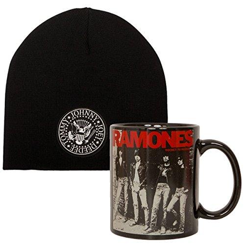 Ramones 2-teiliges Set aus Mütze Presidential Seal und Kaffee-Becher Rocket To...