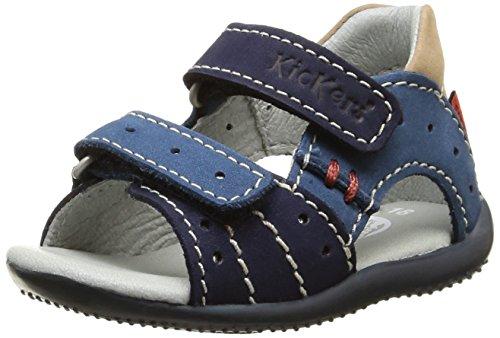Kickers Boping, Chaussures Bébé marche bébé garçon, Bleu (Marine/Bleu/Beige), 19 EU