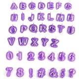 Wa 40 Unids Letra del Alfabeto Número Cortador de la Torta Fondant Cake Galletas