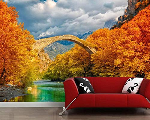 San Diego Brücke Herbst Bäume Fluss Natürliche 3D Wand Paperliving Room Sofa Tv Wand Schlafzimmer Restaurant Cafe Wandbild 350 * 245 Cm