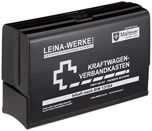 Leina-Werke 10052 Botiquín de primeros auxilios de automóvil Leina-Star II, negro / blanco
