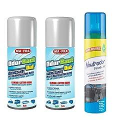Idea Regalo - Ma-Fra Odorbact out Igienizzante per Condizionatore, 2 Confezioni 150ml più Neutrodor Fresh Air, Deodorante Auto 100ML