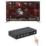 Hellycuche HDMI 4K Ultra HD 2 Port HDMI KVM Switch In und Out Switch Split Screen Sharer DNF Unterstützung Blu-ray 3D Switching