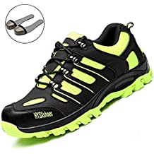 SUADEEX Unisex Mujer Hombre Zapatillas de Seguridad Deportivos con Puntera de Acero Zapatos de Trabajo Entrenador