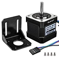 Schrittmotor, Quimat Nema 17 Schrittmotor Bipolar 2A 64oz.in (0.45Nm) 38mm Körper 4-Blei mit 1m Kabel & Stecker und Montage Halterung für 3D Drucker Hobby CNC