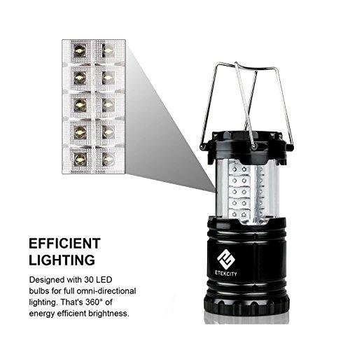 Etekcity Campinglampe Camping Laterne zusammenklappbar 30 LEDs
