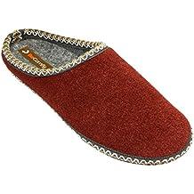 Chaussons Rouge Noir Beige Taille 36-46 Option Ue Avec Le Modèle De Boîte De Cadeau Fu02 (41, Rouge)