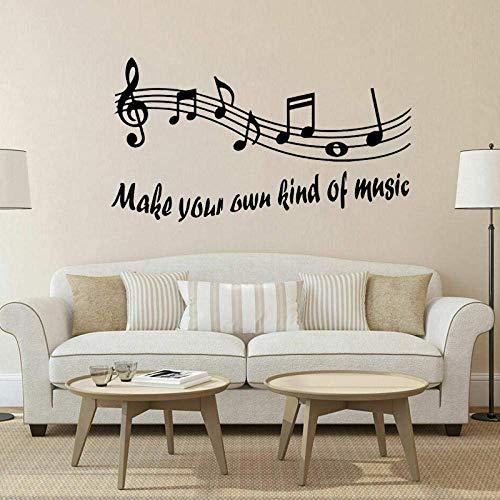 Haz Tu Propio Tipo De Música Etiqueta De La Pared Pvc Notas Musicales Cita Del Arte De La Pared 58Cm * 31.7Cm