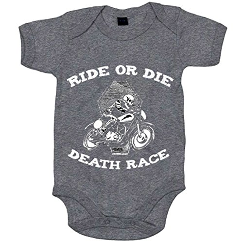 Body bebé Ride Or Die Death Race para moteros - Gris, 12-18 meses