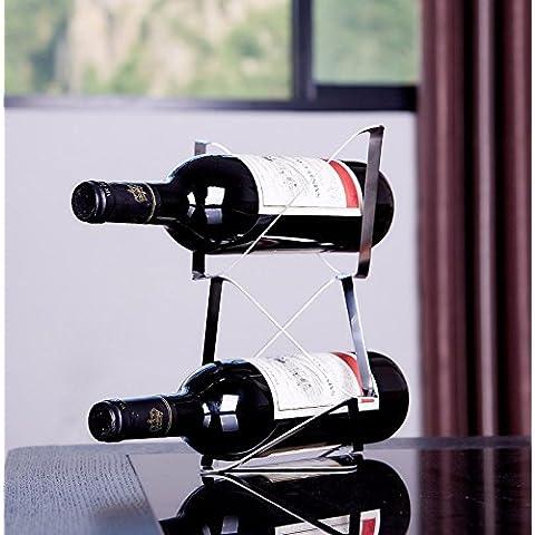 Finitura in acciaio inossidabile vino Rack supporto a pavimento contiene?moderno creativo cavo in acciaio inossidabile rack vino,tromba 2 stick