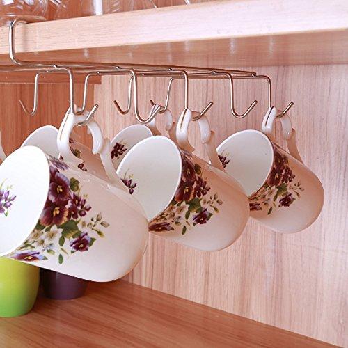 12 Haken Edelstahl Küche Lagerregal Schrank Hängen Haken Regal Dish Hanger Brust Lagerung (Benutzerdefinierte Brust)