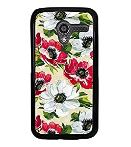 PrintVisa Red White Flower High Glossy Designer Back Case Cover for Motorola Moto X :: Motorola Moto XT1052 XT1058 XT1053 XT1056 XT1060 XT1055