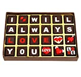 #5: Edible Gift Ideas I love you 24-Piece Chocolate Box (300g)
